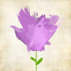 Brush Stroke Flowers Violet