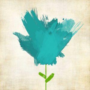 Brush Stroke Flowers Blue II