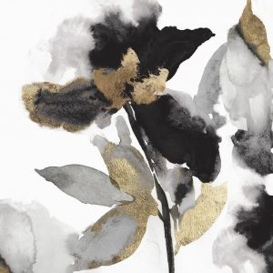 Black Petals Gold Leaves II