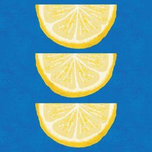 Lemon Wedges on Blue