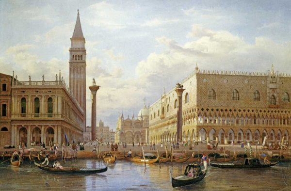 A View of The Piazzetta With The Doges Palace From The Bacino, Venice