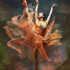 Ballet Dancer in Orange