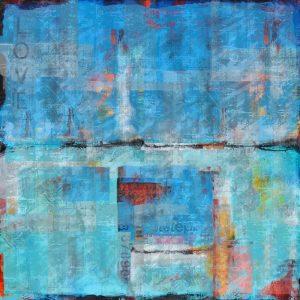 Abstract Blue VIIII
