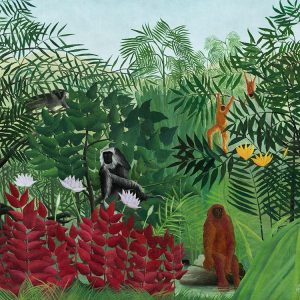 Tropical Forest with Monkeys1910