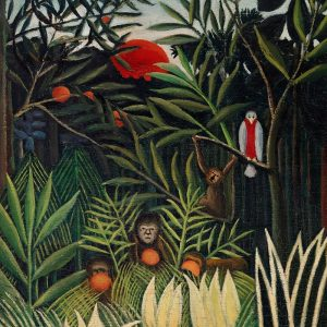 Monkeys and Parrot in the Virgin Forest 1906
