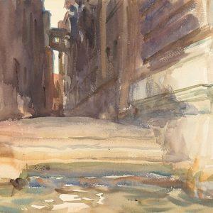 The Calle della Rosa with the Monte di Pieta, Venice