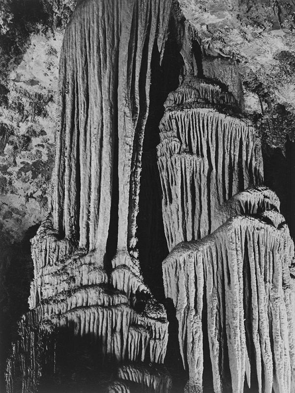 Rock formations in the Kings Chamber. Carlsbad Caverns National Park New Mexico