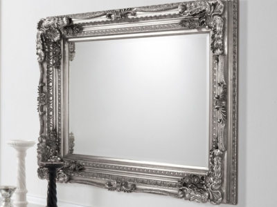 Mirror picture frames add a modern touch to a room